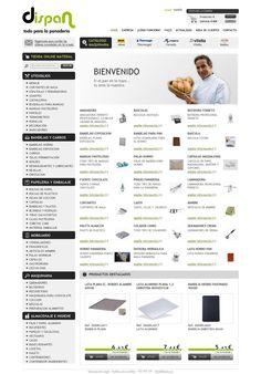 Dispan.es es una empresa de distribuidores de maquinaria, #utensilios y mobiliario para el sector de la #panadería y #pastelería. En la #tiendaonline, un extenso menú presenta todos los productos, de forma muy intuitiva.