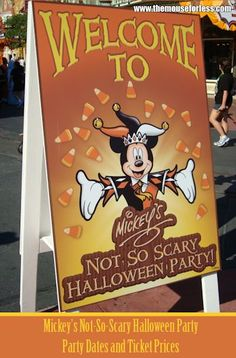 Here are the dates we'e been waiting for!  Mickey's Not-So-Scary Halloween Party 2015 Dates, Walt Disney World!  Are YOU going?