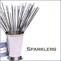 sparklers with match books nearby
