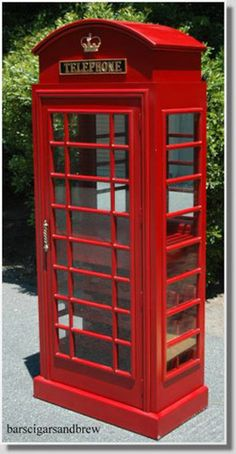 british telephone booths | RED english TELEPHONE Booth WINE BAR lk old cast iron liquor cabinet