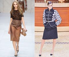 At the Burberry Prorsum Fall/Winter 2013 presentation, and the Chanel Fall/Winter 2015 show earlier this year.  She may already be swapping modeling for acting, but Cara's two-year catwalk career was explosive enough to launch her to mono-name status (thanks in part, of course, to those Brows). Given her close friendship with Karl Lagerfeld, however, we wouldn't be surprised to see her take a few more spins on the Chanel runway.   - HarpersBAZAAR.com