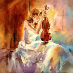 10 Unconventional Knowledge About Girl Playing Violin Painting That You Cant Learn From Books Violin Painting, Violin Art, Painting Of Girl, Painting People, Figure Painting, Oil Painting On Canvas, Canvas Art, Oil Paintings, Cello