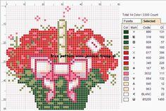 borduren kruissteekpatronen cross-stitching free pattern