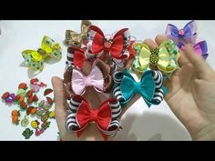 YouTube Diy Hair Bows, Ribbon Hair Bows, Hair Bow Tutorial, Hand Embroidery Designs, Crazy Hair, Diy Hairstyles, Blackberry, Diy And Crafts, Youtube