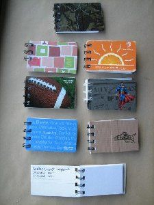 """gift card logbooks- credit to deniserows   replacement logbooks mad from 3/8"""" wire and bind it all."""