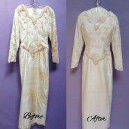 Silk Shantung Wedding Gown Restoration and Preservation