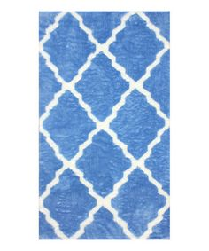 Love this Blue Plush Miley Rug on #zulily! #zulilyfinds