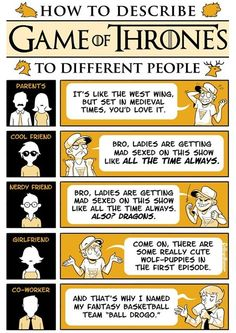 How to Describe Game of Thrones to Different People