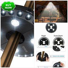 Home Novel Cantilever Patio Umbrella Light Outdoor Cantilever Pool Cordless Stand Deck Light Table Camping Shipping