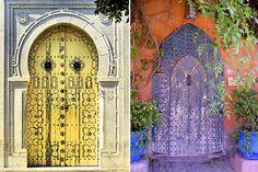 Exotic painted doors