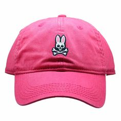 Psycho Bunny Everyday Washed Baseball Hat in Snapdragon