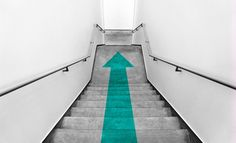 Green arrow at staircase HD Wallpaper available in different dimensions