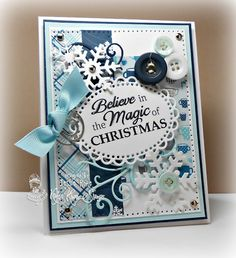 Believe in the Magic of Christmas card by Jessie Rone for Kraftin' Kimmie