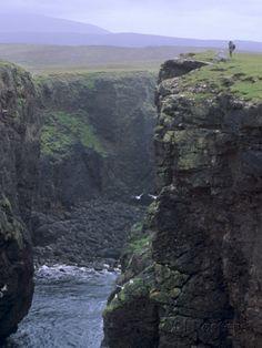 Shetland Islands Scotland | ... Crater, Northmavine, Shetland Islands, Scotland, UK Photographic Print