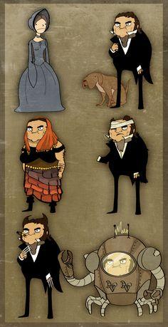 Jane Eyre and Mr. Rochesters by Sir-Heartsalot.deviantart.com on @deviantART