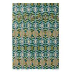 Deco Rug in Peacock (Geometric Pattern, Rug Sample) | Handmade Area Rugs from Company C $545