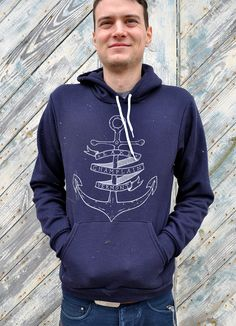 Present your first mate with an anchor-printed hoodie. #etsy