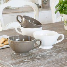 jumbo breakfast mug by dibor | notonthehighstreet.com.  I like the white ones!