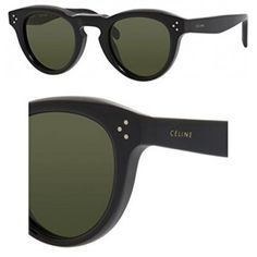 ddff9566a4 Amazon.com  Celine 41372 S 807 Black 41372S Round Sunglasses Lens Category  3 Size 45mm  Celine  Clothing