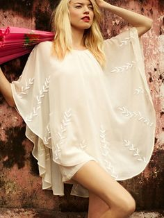 Pointed Cape Dress  $188    http://www.freepeople.com/clothes-dresses/pointed-cape-dress/