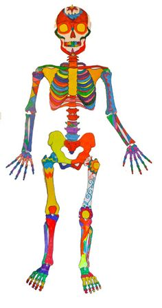 Life size printable skeleton kids craft for Halloween or Day of the Dead