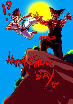 Father's Day @ the Mishima's, Lawrence Ndzanga Happy Fathers Day, Superhero, Artwork, Illustrations, Fictional Characters, Happy Valentines Day Dad, Work Of Art, Auguste Rodin Artwork, Illustration