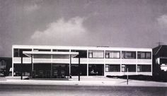 Service Station and Car Dealership (1958-59) in Leonberg, Germany, by Roland Ostertag