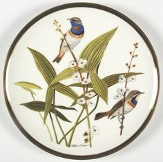 Franklin Mint Songbirds of the World: Bluethroat - Artist: Arthur Singer