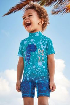 Buy Blue Dino Sunsafe Suit (3mths-6yrs) online today at Next: Israel