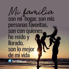 Yo amo a mi familia www.familias.com #amoamifamilia #matrimonio #sermamá #bebé #hermanos #hijos #amor #familia #frasesdeamor #frases #frasesbonitas #frasesdefamiliahttp://www.familias.com/