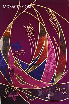 Church Supplies Advent Banner, Purple Eucharistic Appliqued Design, 24 x 36 Inches Church Goods