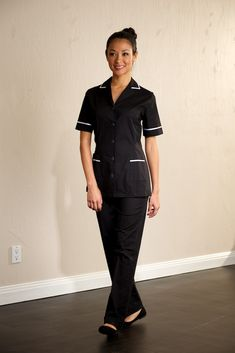maid outfit for workplace Daisy - Classic Maids Housekeeping Tunic Spa Uniform, Hotel Uniform, Maid Uniform, Uniform Shirts, Uniform Ideas, Staff Uniforms, Work Uniforms, Work Fashion, Kids Fashion