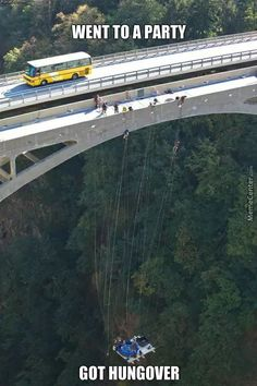 A hot tub that's suspended from a high bridge in Switzerland. That's extreme hot tubbing! Summer Pool Party, Party Party, Living On The Edge, Extreme Sports, Jacuzzi, Places To See, Switzerland, South Africa, The Good Place