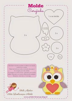 Felt owl pattern by Friends of the Felt Owl Crafts, Diy And Crafts, Crafts For Kids, Paper Crafts, Owl Patterns, Applique Patterns, Felt Patterns Free, Owl Applique, Sewing Crafts