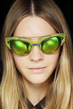 See all the Backstage photos from Versace Spring/Summer 2014 Ready-To-Wear now on British Vogue Top Sunglasses, Ray Ban Sunglasses Outlet, Trending Sunglasses, Ray Ban Outlet, Mirrored Sunglasses, Oakley Sunglasses, Crazy Sunglasses, Sunnies, Versace Sunglasses