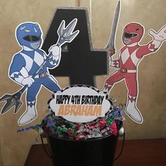 Power Rangers centerpiece