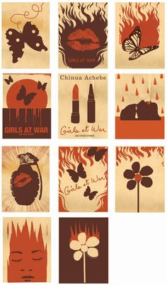 Designed by Edel Rodriguez for book 'Girls at war'|  Author Chinua Achebe
