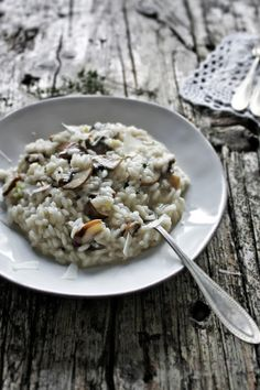 Cremini Mushrooms & Thyme Risotto