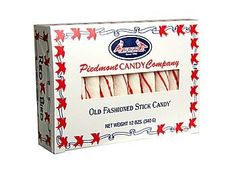 Piedmont Candy Company peppermint sticks (Made in North Carolina)