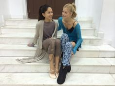 Dancers Sonoya and Keenan became good friends while fiming the movie High Strung.