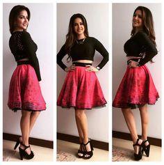 Sunny Leone while  on promotional tour of 'Ek Paheli Leela'.
