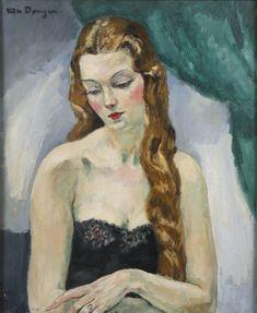 Portrait of a Woman, Kees Van Dongen (1877-1968) (De-1)