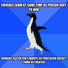 """Socially Awkward Penguin"" 