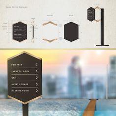 LOUIS KIENNE HOTEL – WAYFINDING SYSTEM – Kaze Lim Hotel Signage, Wayfinding Signage, Signage Design, Branding Design, Lounge Areas, Jacuzzi, Concept, Graphics, Living Rooms