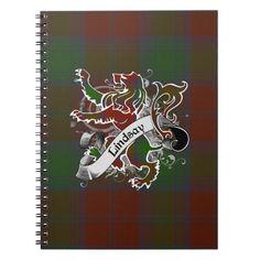 Lindsay Tartan Grunge Spiral Note Books