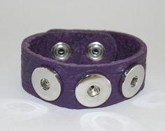 Bracelet, Ultra Soft Full-Grade Leather Snap