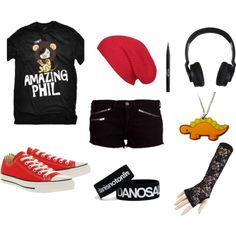"""Phil and Dan"" by brennathetigerrawrz on Polyvore"