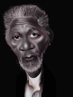 MORGAN FREEMAN - Amazing Caricatures of Celebrities (50 pics)