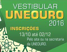 Campanha Vestibular UNEOURO 2016.