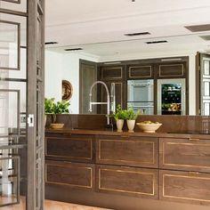 Brass inlay | bespoke kitchen by Birgit Israel